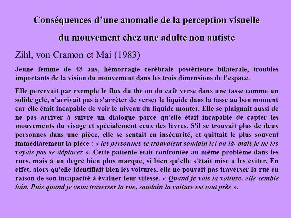 Conséquences d'une anomalie de la perception visuelle