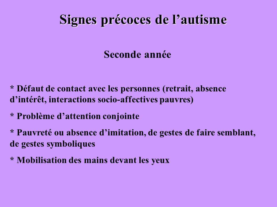 Signes précoces de l'autisme