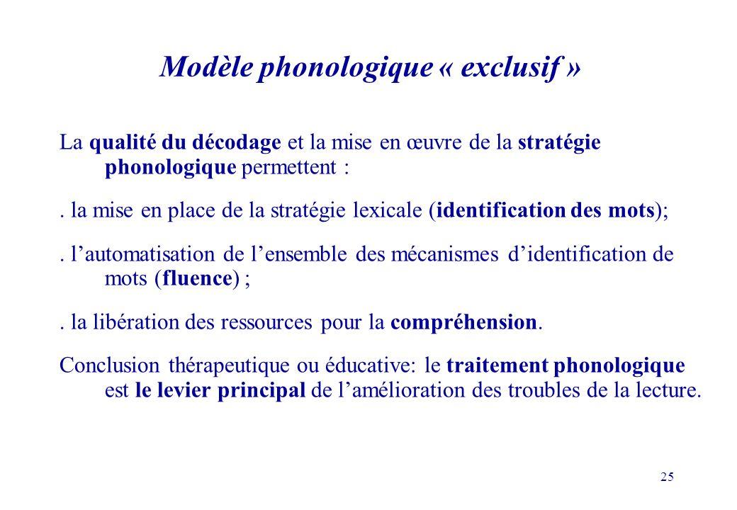 Modèle phonologique « exclusif »
