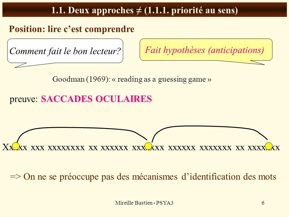 1.1. Deux approches ≠ (1.1.1. priorité au sens)