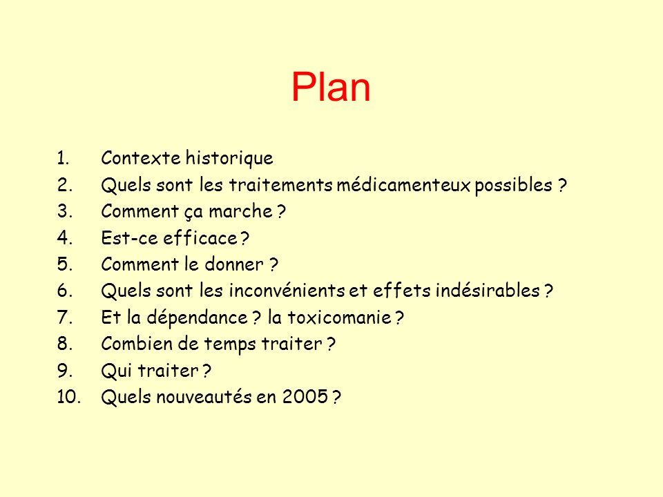 Plan Contexte historique
