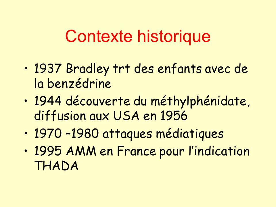 Contexte historique 1937 Bradley trt des enfants avec de la benzédrine
