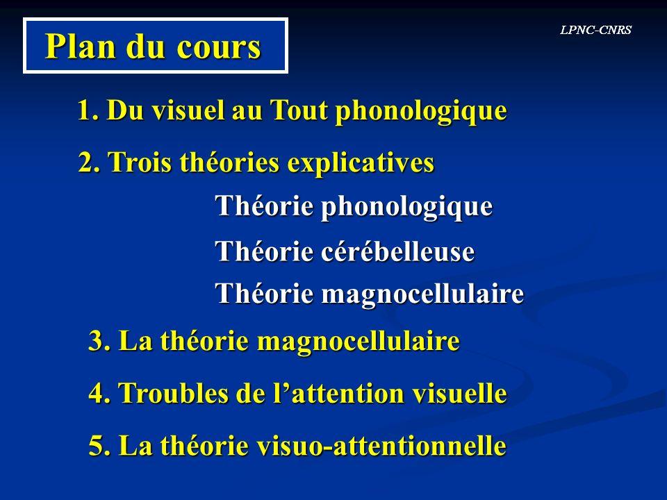 Plan du cours 1. Du visuel au Tout phonologique