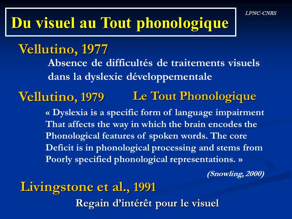 Du visuel au Tout phonologique