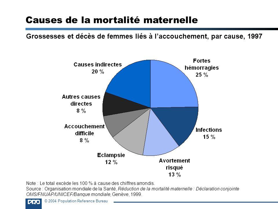 Causes de la mortalité maternelle