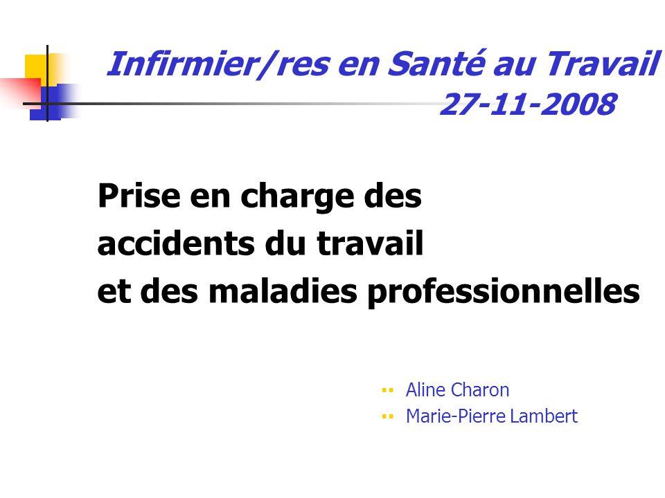 Infirmier/res en Santé au Travail 27-11-2008