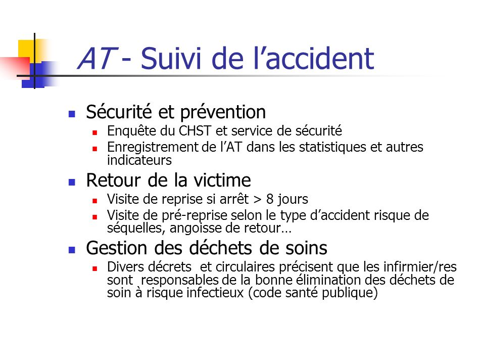 AT - Suivi de l'accident