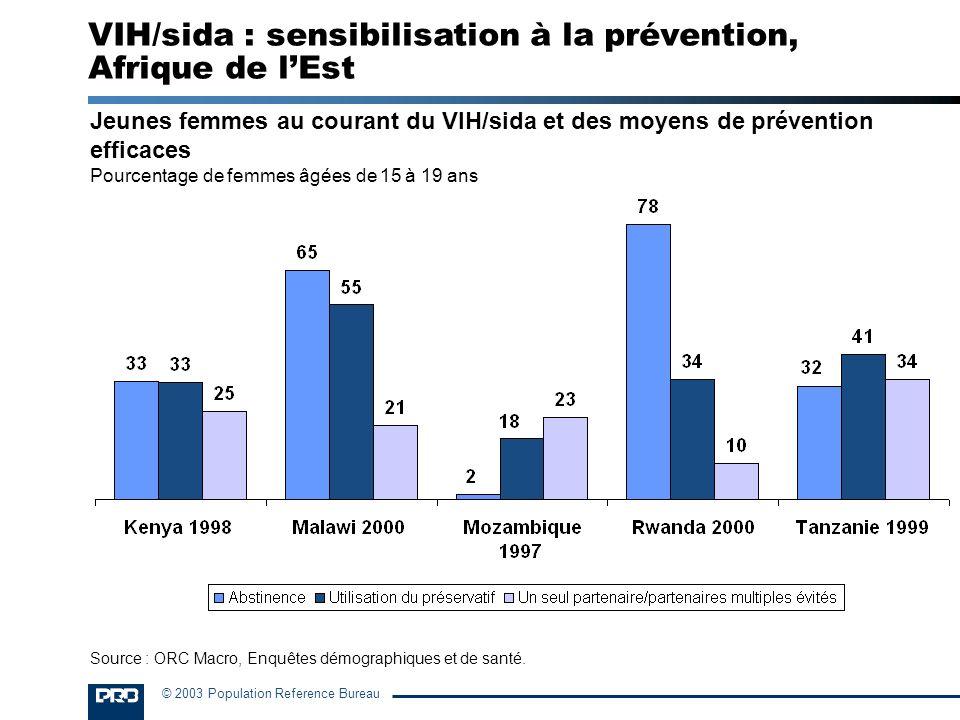 VIH/sida : sensibilisation à la prévention, Afrique de l'Est