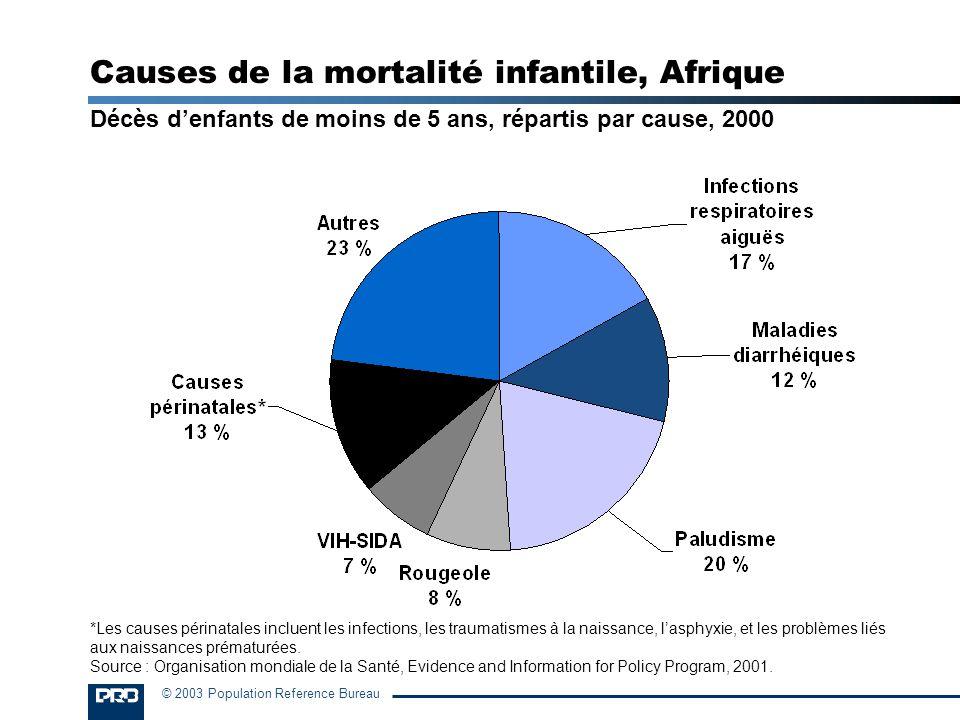 Causes de la mortalité infantile, Afrique