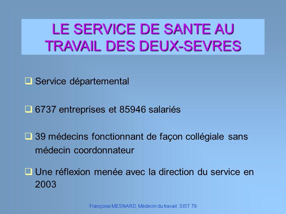LE SERVICE DE SANTE AU TRAVAIL DES DEUX-SEVRES