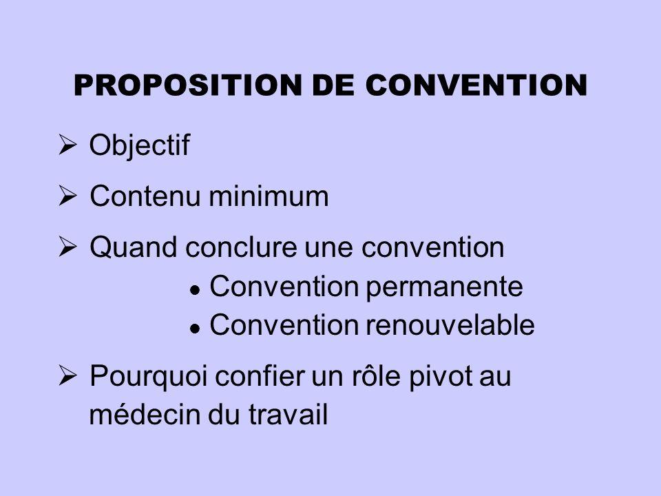 PROPOSITION DE CONVENTION
