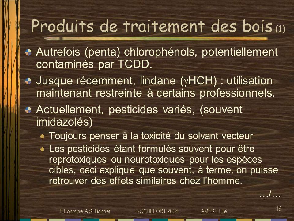 Produits de traitement des bois (1)