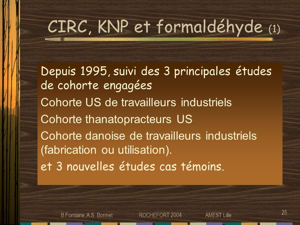 CIRC, KNP et formaldéhyde (1)