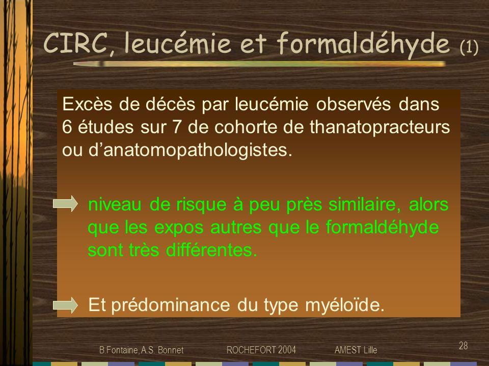 CIRC, leucémie et formaldéhyde (1)