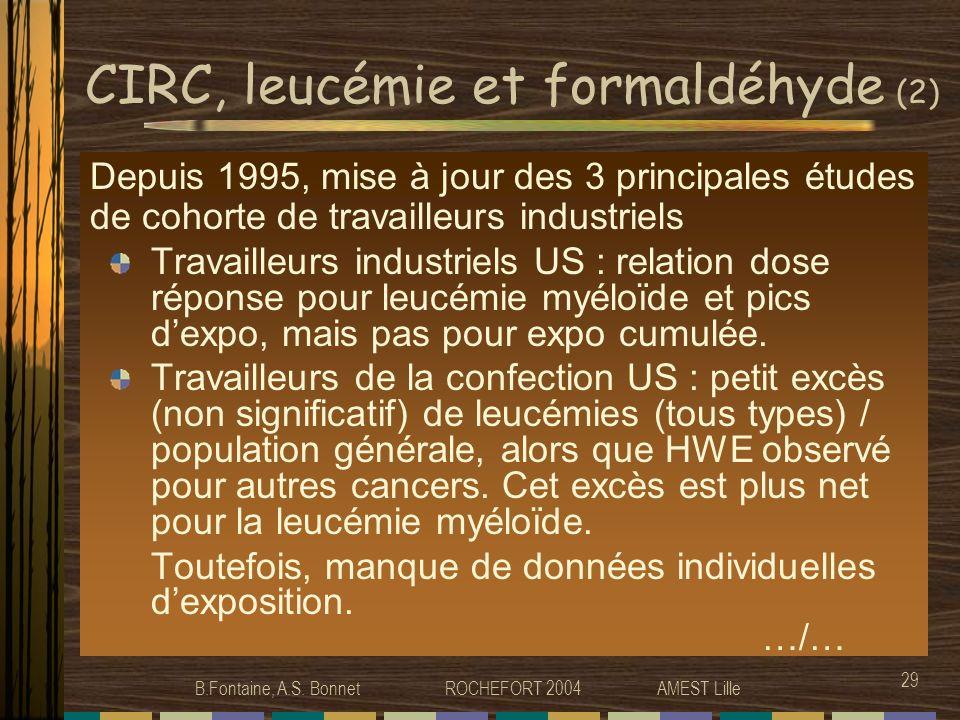 CIRC, leucémie et formaldéhyde (2)