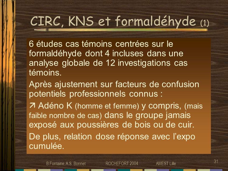 CIRC, KNS et formaldéhyde (1)