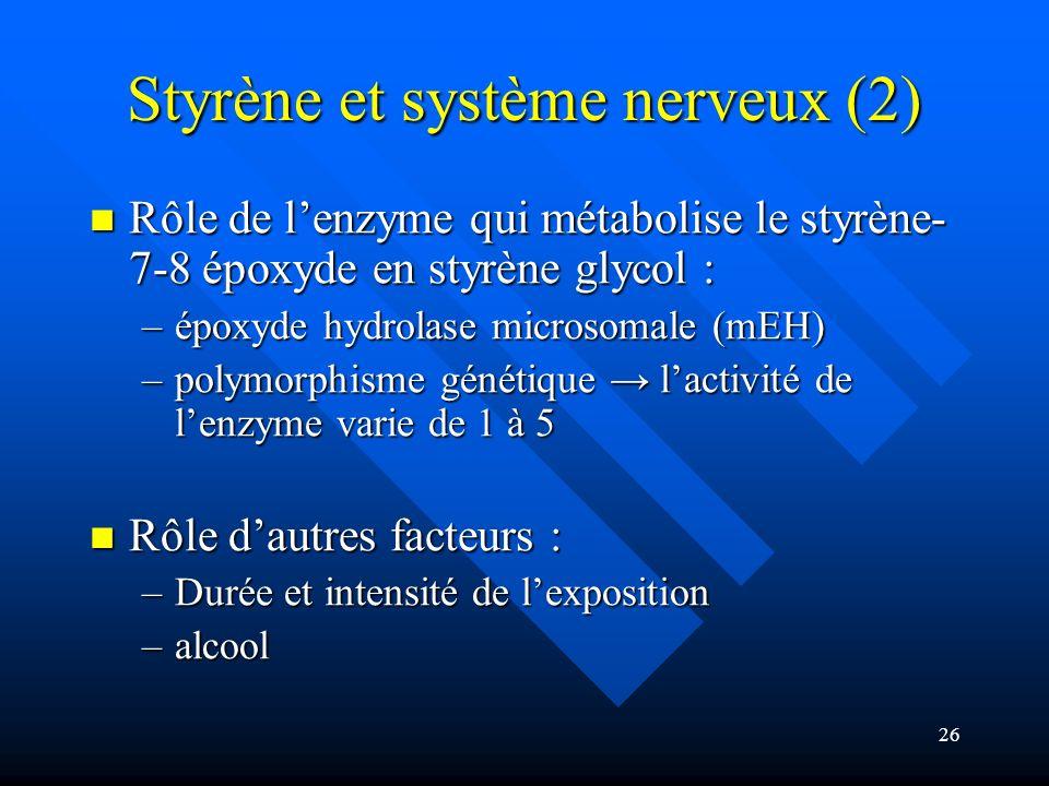 Styrène et système nerveux (2)
