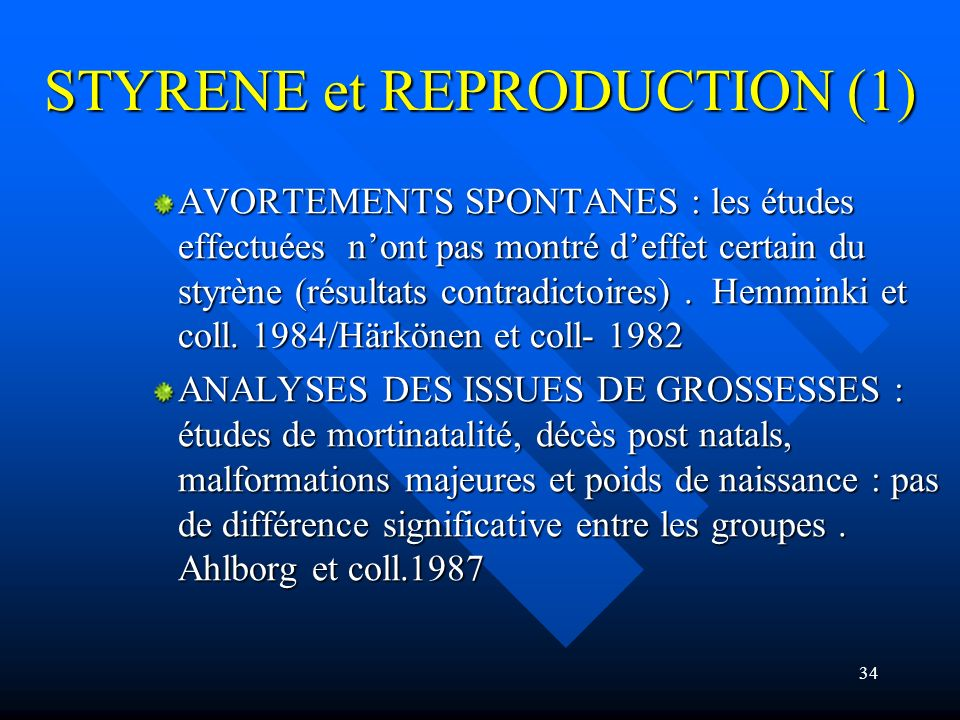 STYRENE et REPRODUCTION (1)