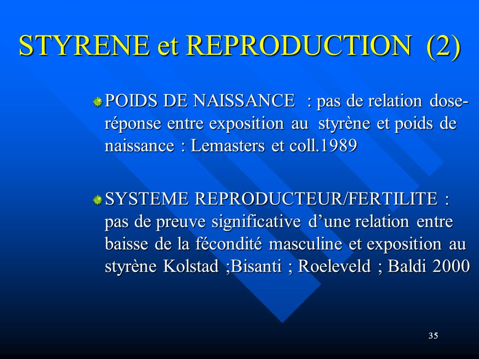 STYRENE et REPRODUCTION (2)