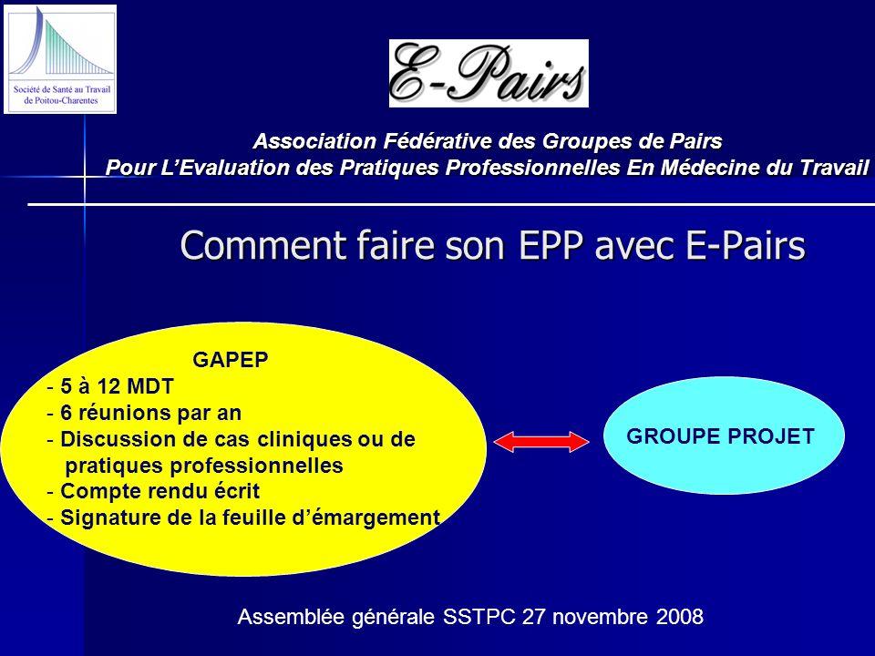 Comment faire son EPP avec E-Pairs
