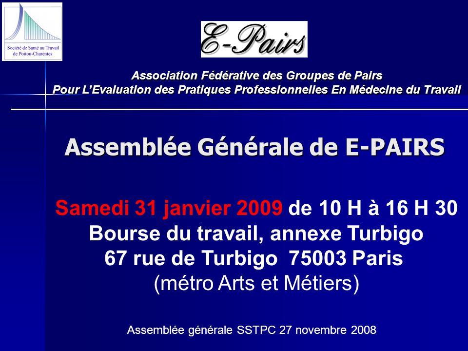 Assemblée Générale de E-PAIRS