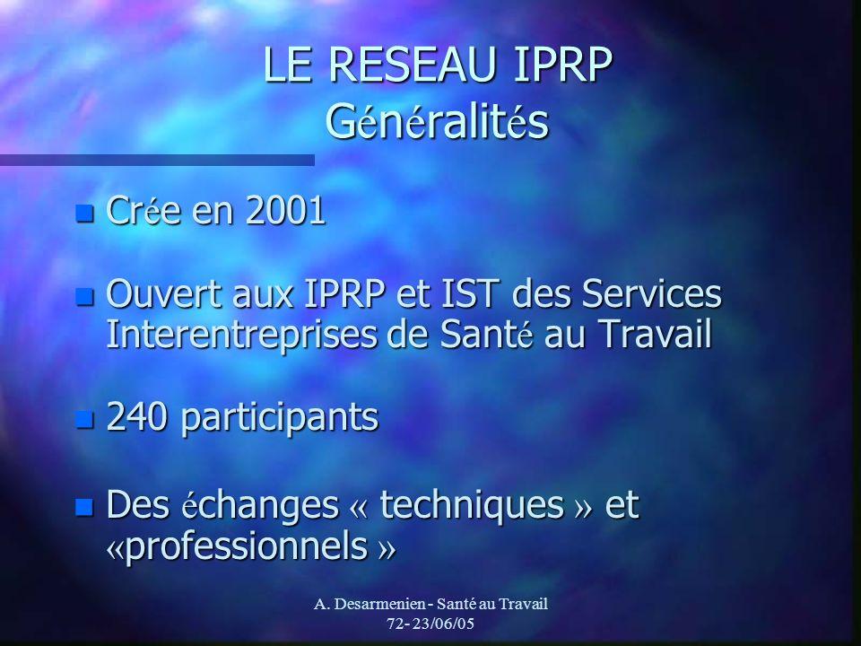 LE RESEAU IPRP Généralités