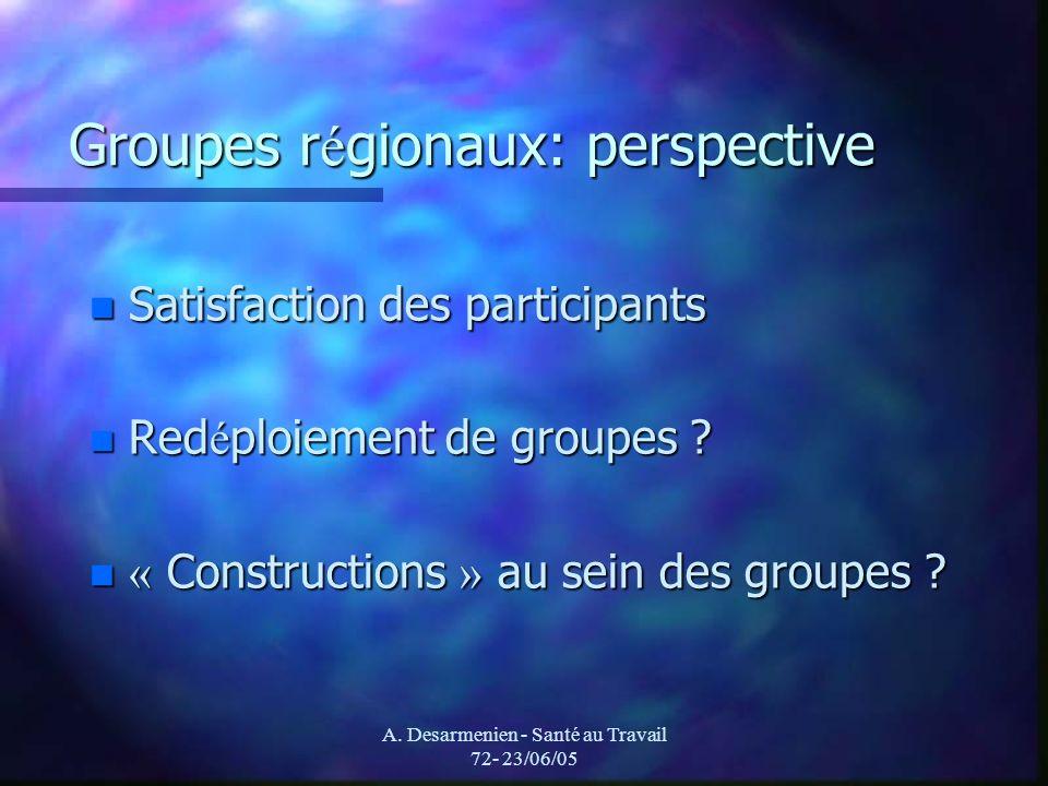 Groupes régionaux: perspective