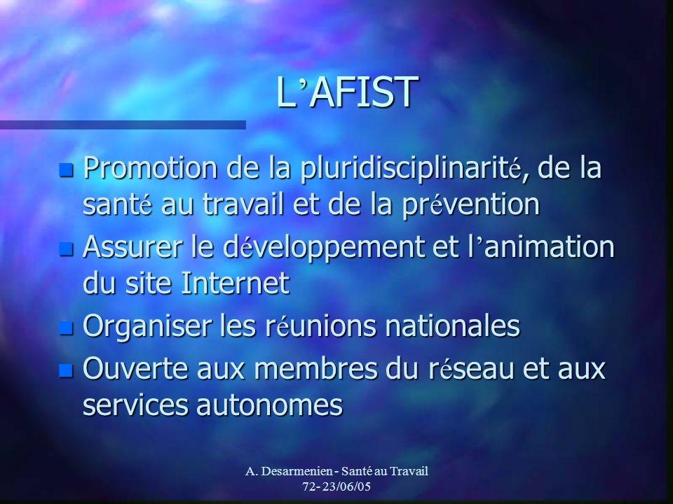 A. Desarmenien - Santé au Travail 72- 23/06/05