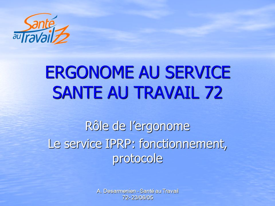 ERGONOME AU SERVICE SANTE AU TRAVAIL 72