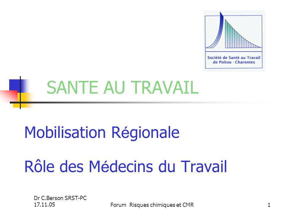 Mobilisation Régionale Rôle des Médecins du Travail