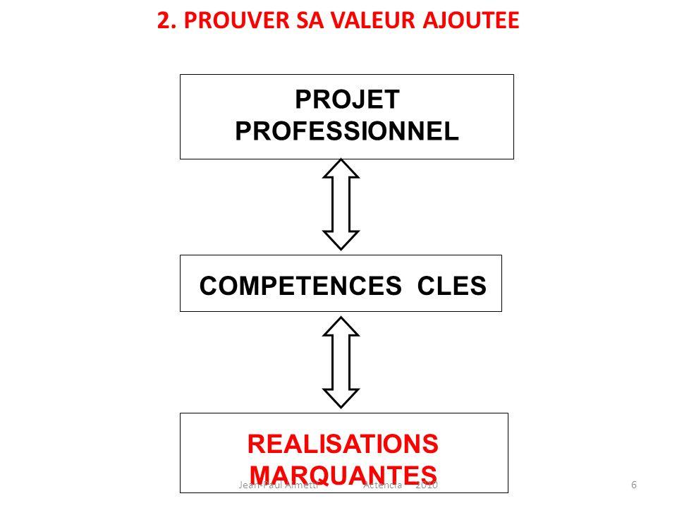 2. PROUVER SA VALEUR AJOUTEE