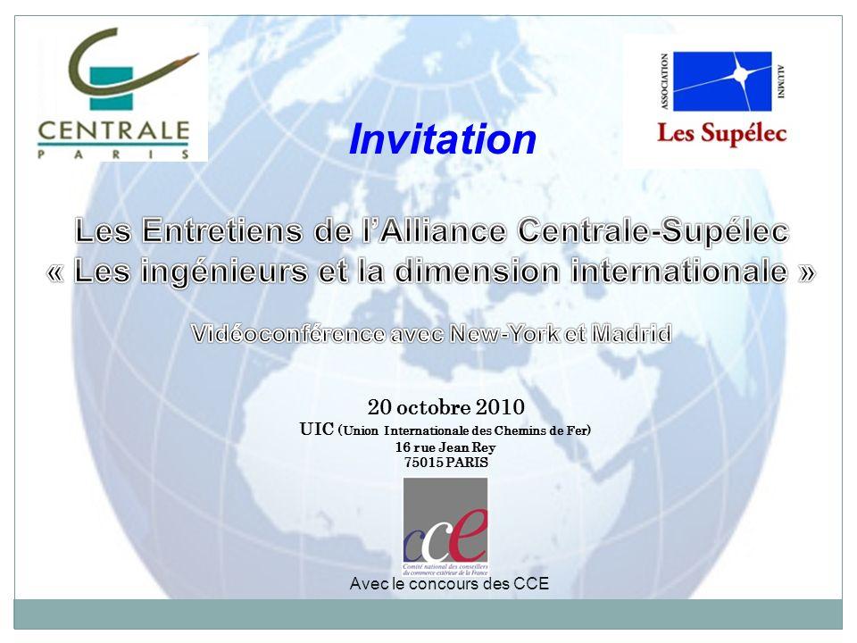 Invitation Les Entretiens de l'Alliance Centrale-Supélec