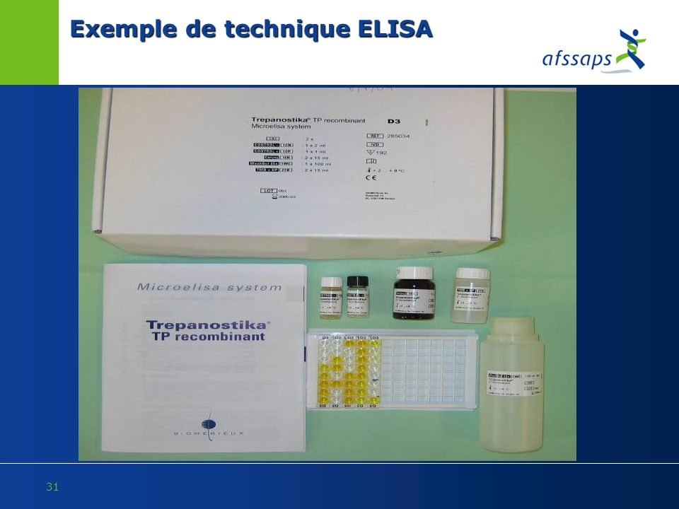Exemple de technique ELISA