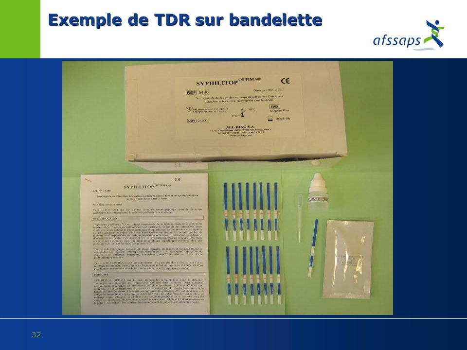 Exemple de TDR sur bandelette