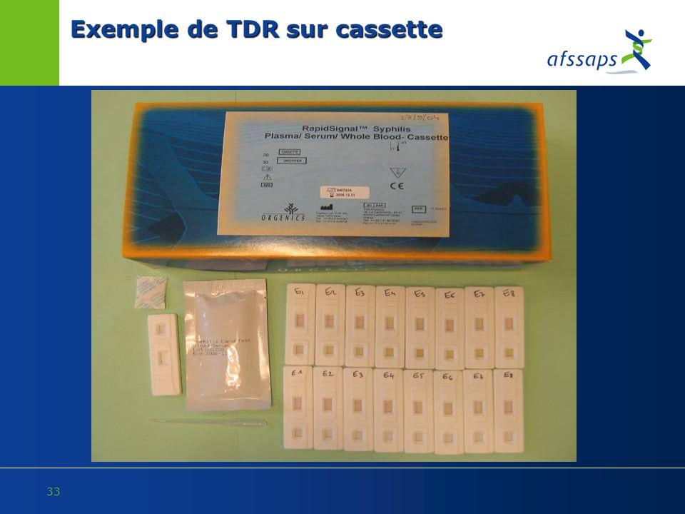 Exemple de TDR sur cassette