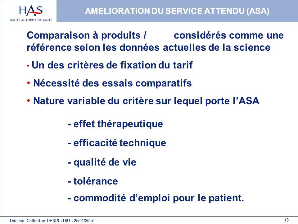 AMELIORATION DU SERVICE ATTENDU (ASA)