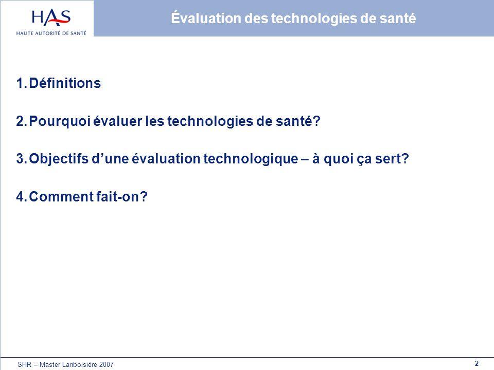 Évaluation des technologies de santé