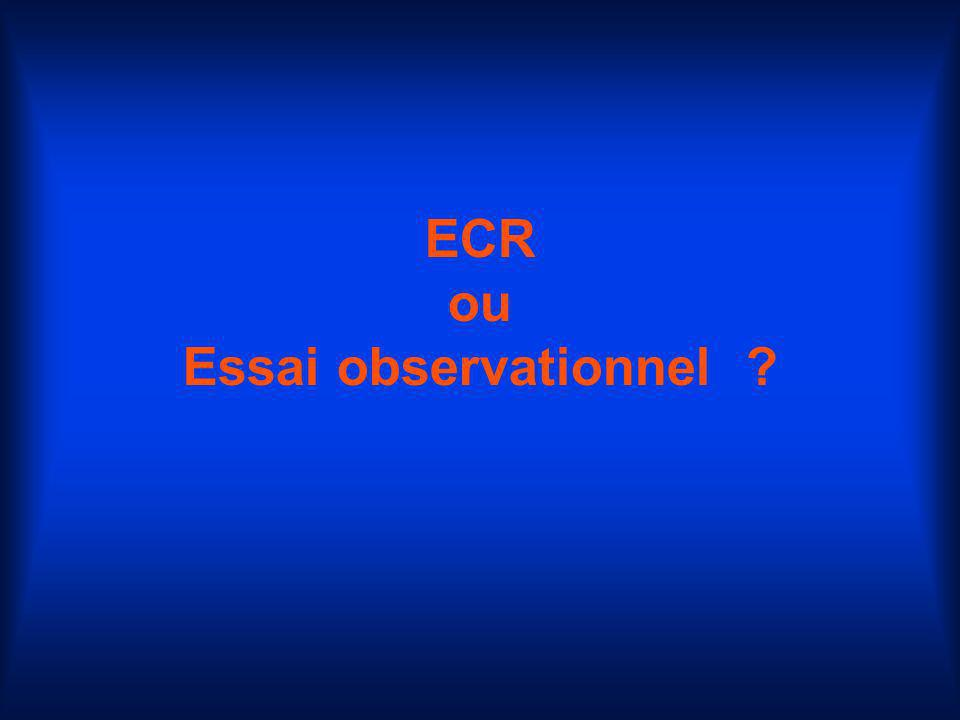 ECR ou Essai observationnel