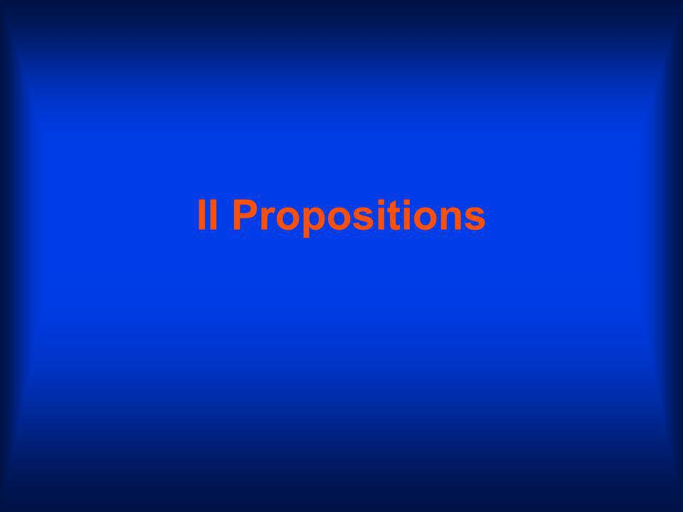 II Propositions