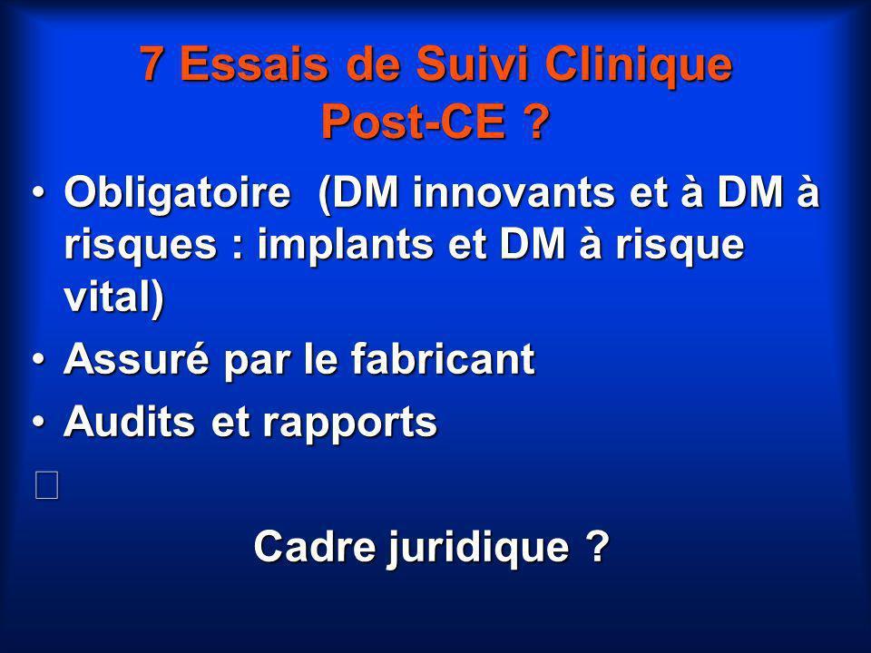 7 Essais de Suivi Clinique Post-CE
