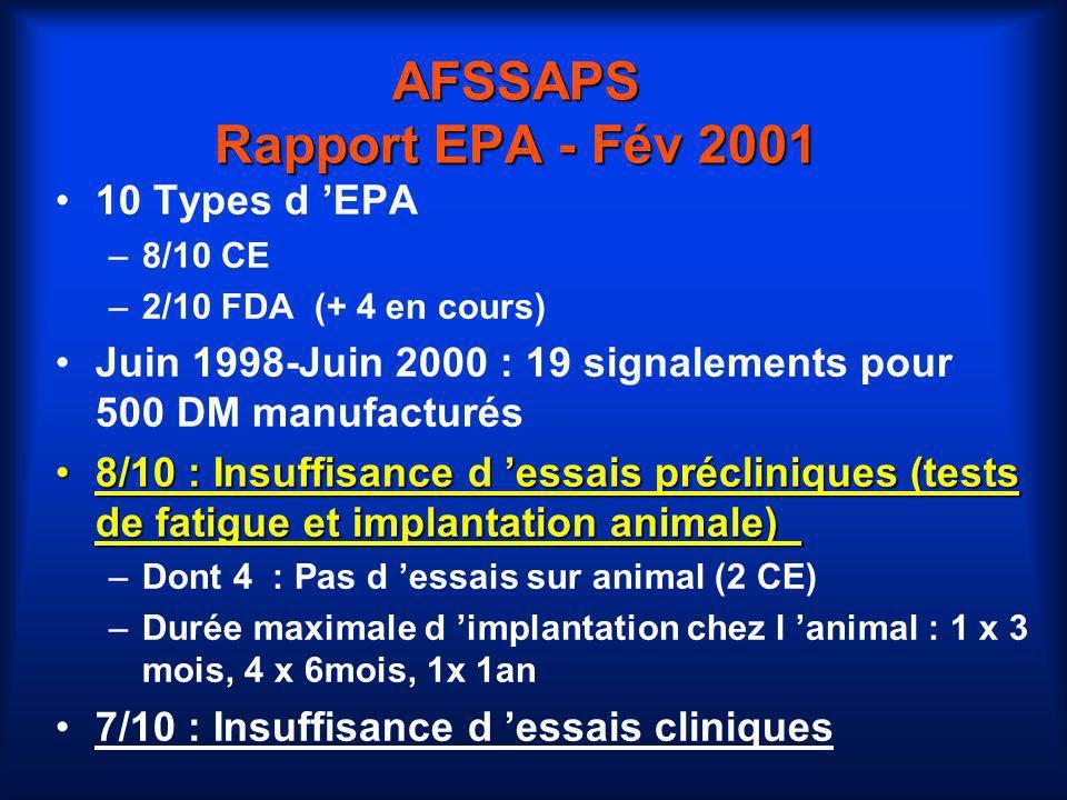 AFSSAPS Rapport EPA - Fév 2001