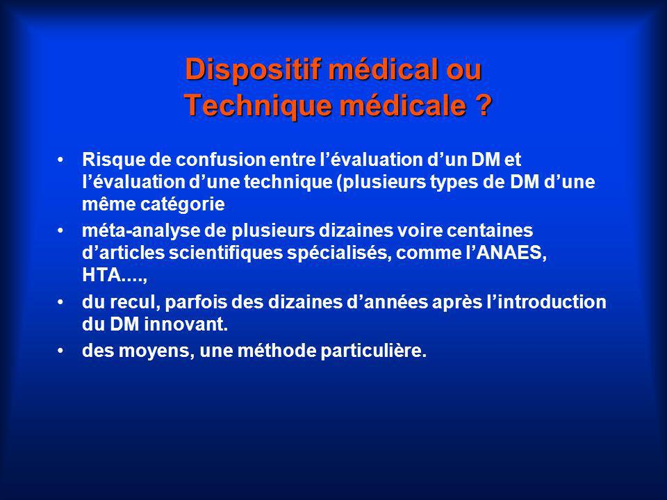 Dispositif médical ou Technique médicale