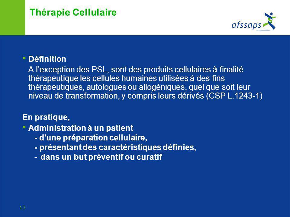 Thérapie Cellulaire Définition