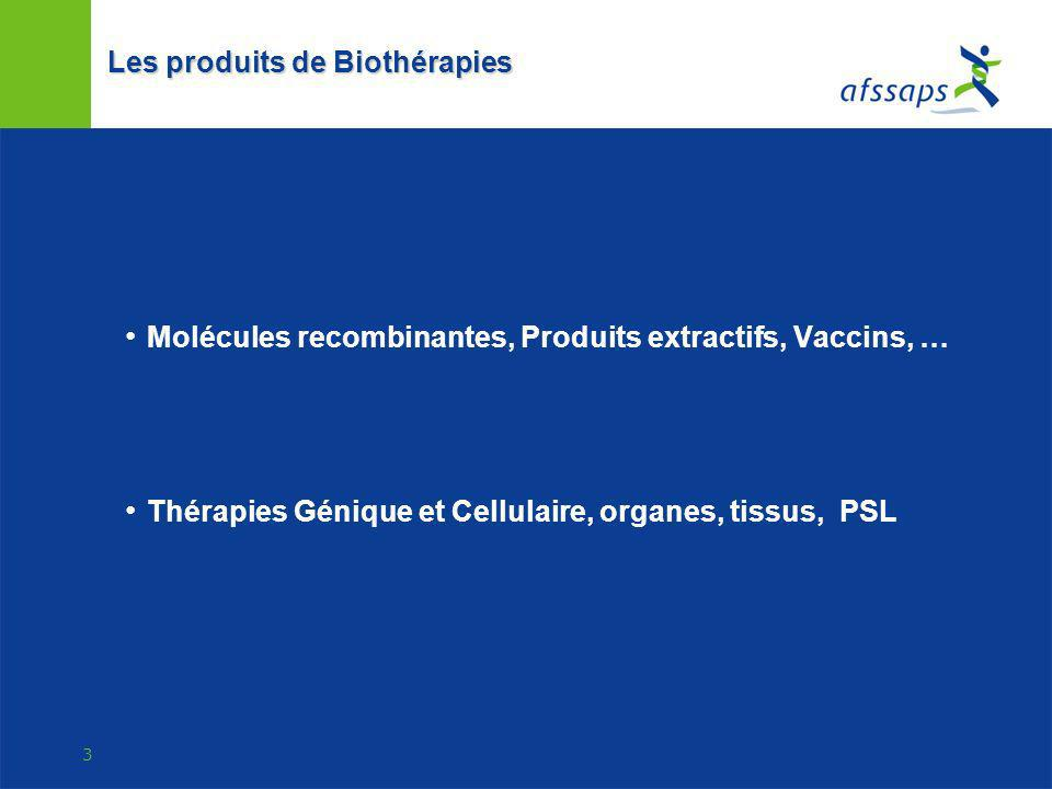 Les produits de Biothérapies