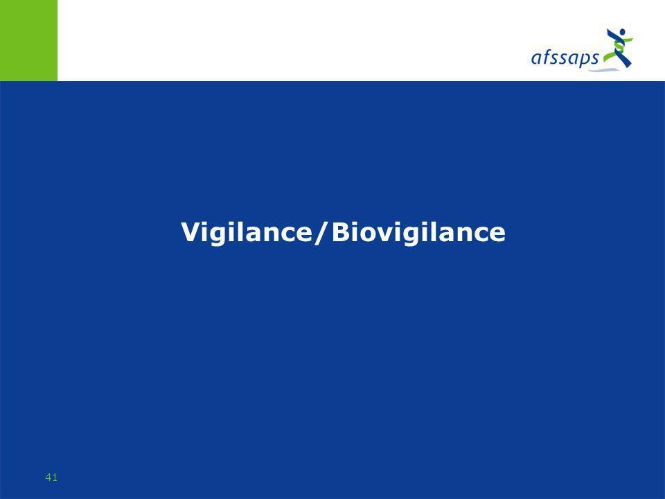 Vigilance/Biovigilance