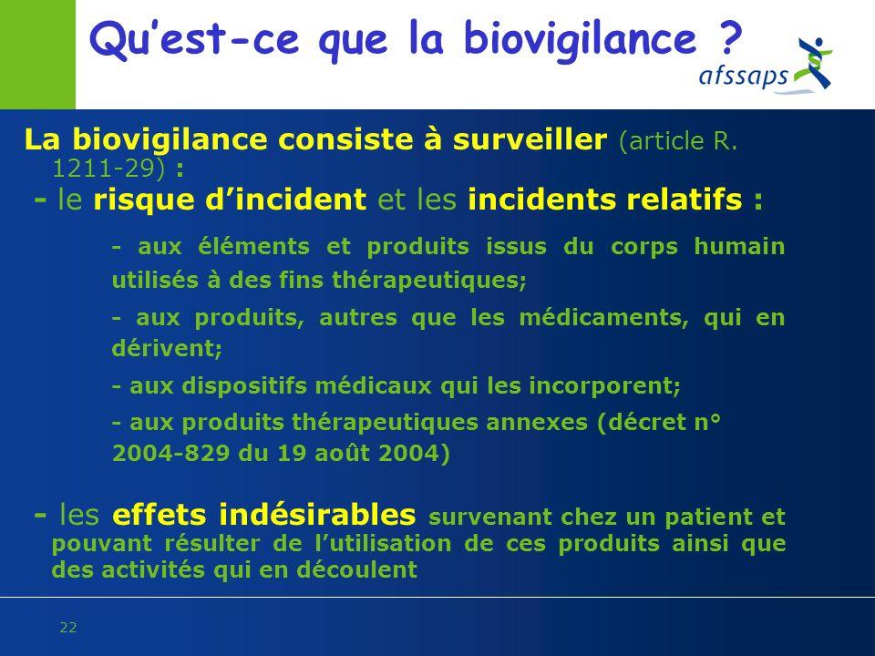 Qu'est-ce que la biovigilance
