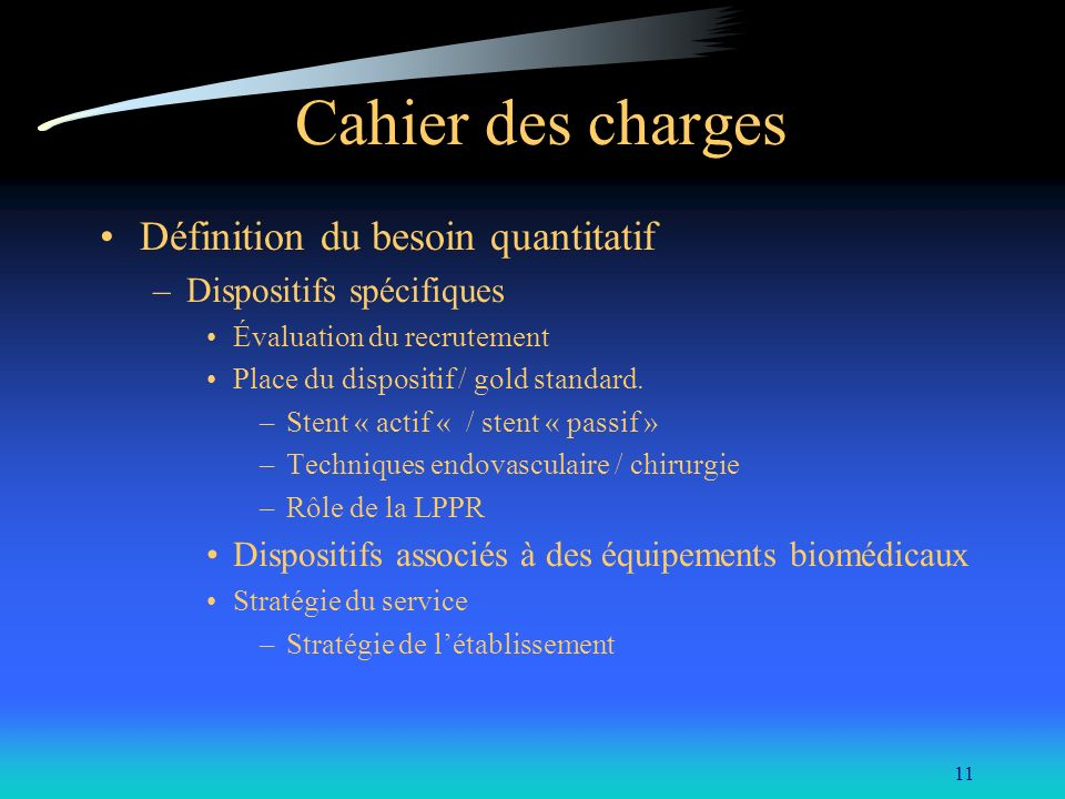 M thodes d appels d offres des dispositifs m dicaux la pharmacie du chu de - Cahier des charges definition ...