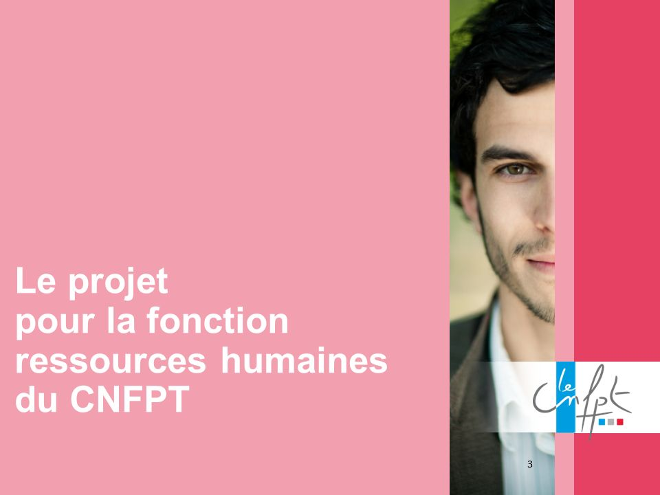 Le projet pour la fonction ressources humaines du CNFPT