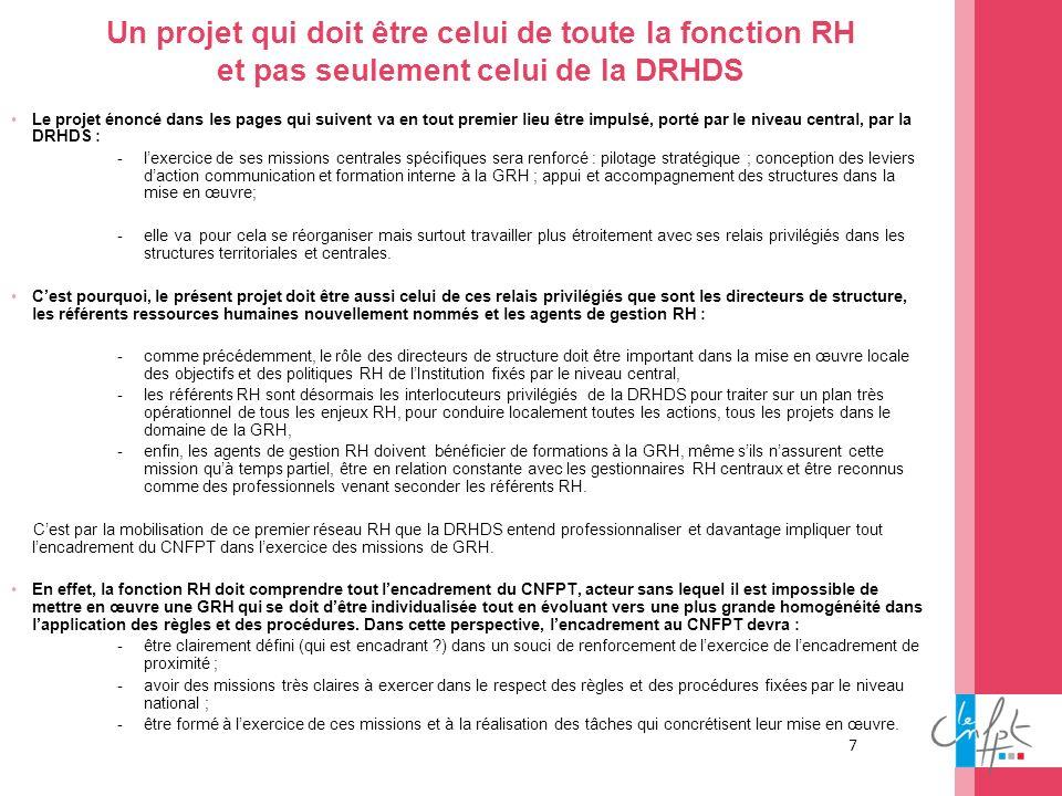 Un projet qui doit être celui de toute la fonction RH et pas seulement celui de la DRHDS