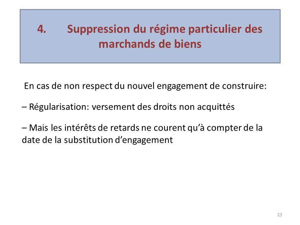 4. Suppression du régime particulier des marchands de biens